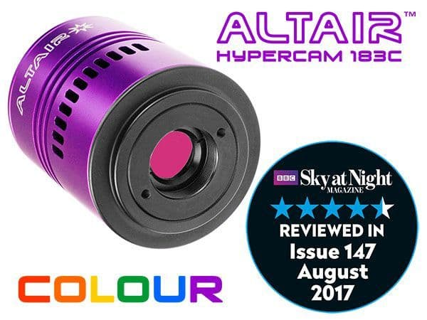 Altair Hypercam 183C PRO 20mp Colour Astronomy Imaging Camera Fan-cooled
