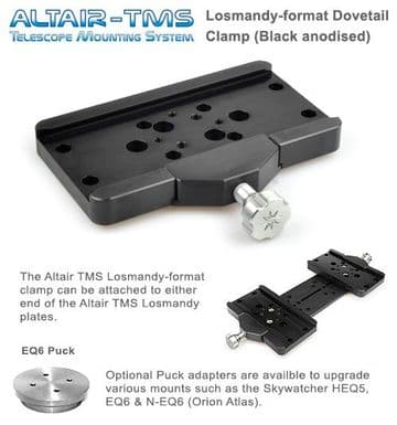 Altair TMS - Losmandy Dovetail Plate Clamp Upgrade Skywatcher NEQ6 EQ6 HEQ5 Black