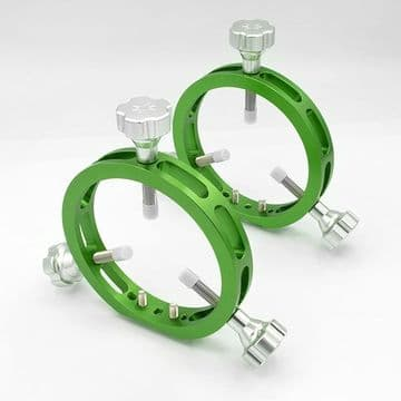 Altair TMS Ultra Light 100mm Guide Scope Rings - GREEN Anodised