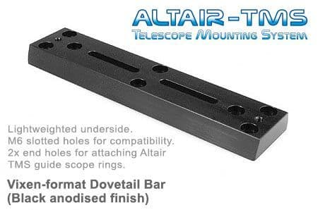 Altair TMS - Vixen Synta 250mm Dovetail Bar Black Anodized