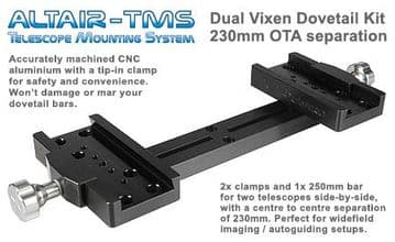 Altair TMS - Vixen-type Dual Mounting Bar 230mm OTA Separation Black