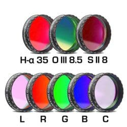 "Baader Complete-Filtersets: Narrow-band and RGB  1¼"" and 2"" with Low Profile Filter Cell (LPFC)"