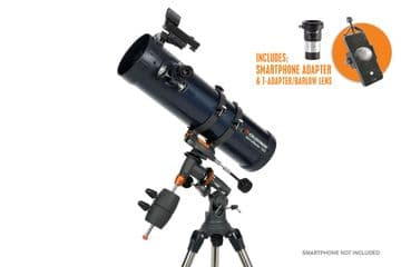 Celestron Astromaster 130EQ with Phone adapter and Barlow