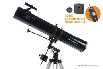 Celestron Powerseeker 114EQ with Phone adapter and Motor drive