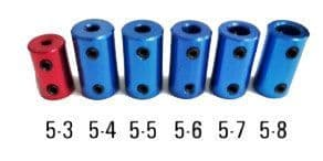 Pegasus Motor Coupler Set 3mm-8mm 6 PCS