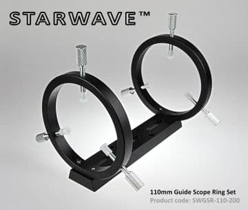 Starwave 110mm Guide Scope Rings with 200mm Dovetail Bar