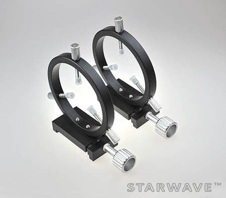 Starwave 110mm Guide Scope Rings with 2x Mini Losmandy Dovetail Clamp
