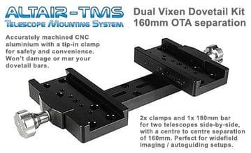 Vixen-type Side-By-Side Mounting System BLACK