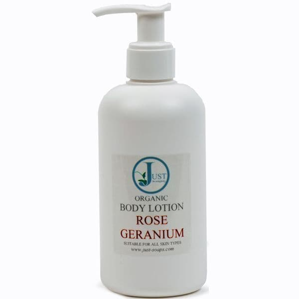 Rose Geranium Body Lotion Organic 200ml