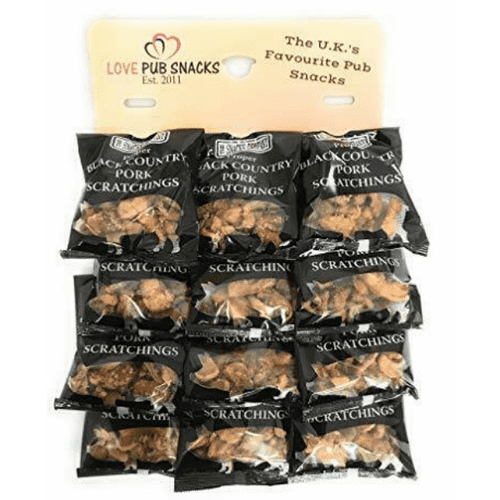 CARDED BLACK COUNTRY PORK SCRATCHINGS