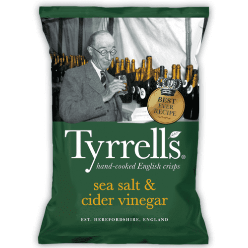 TYRRELLS SEA SALT & CIDER VINEGAR 24's