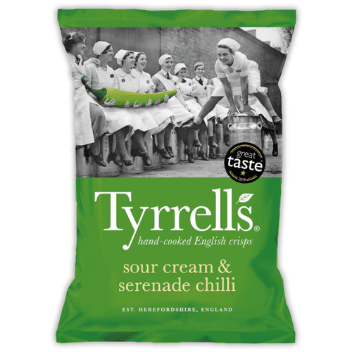 TYRRELLS SOUR CREAM & SERENADE CHILLI