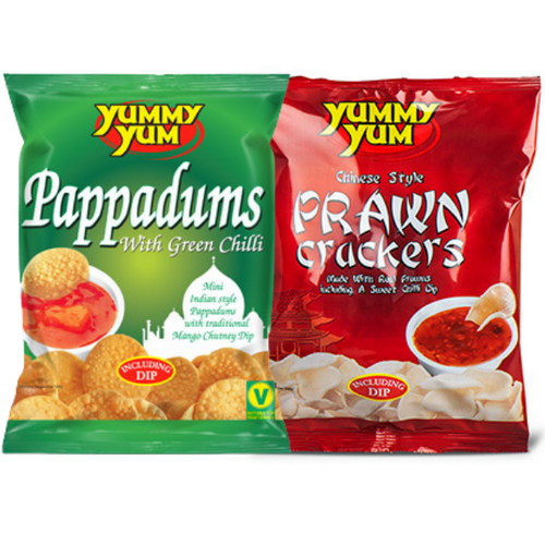 YUMMY YUM MIXED SNACKS WITH DIPS