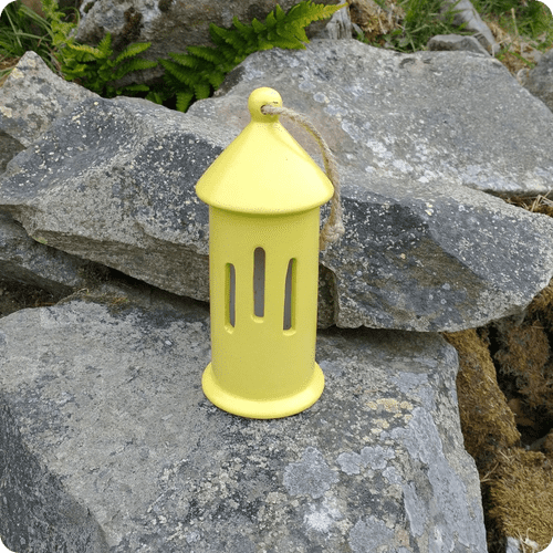 Ceramic Butterfly House - Bright Yellow