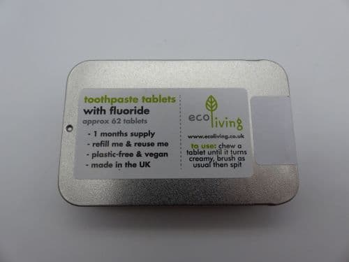 Eco Living Toothpaste Tablets With Flouride