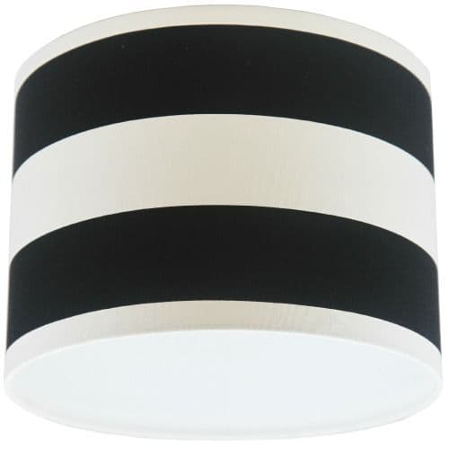 Black and White Stripey Drum Lampshade