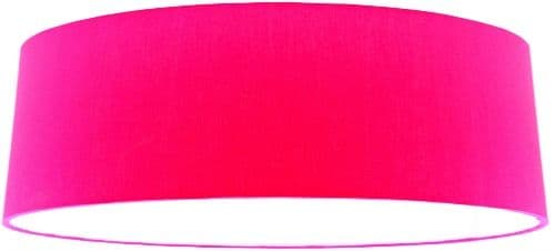 Pink Fabric Extra Large Drum Lampshade, Pink Large Lamp Shades