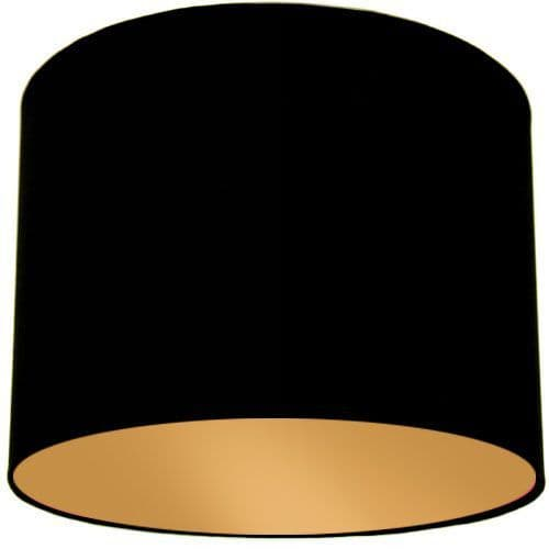 Black Lamp Shade with Gold Lining