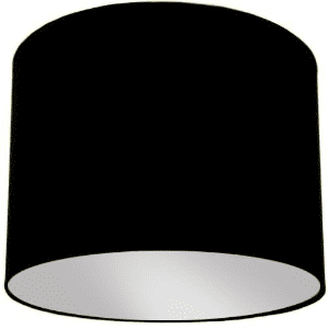 Black Lamp Shade with Silver Lining