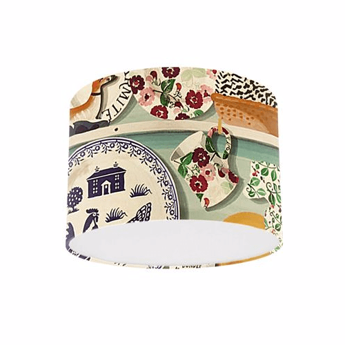 Emma Bridgewater Prints by Sanderson Duck Egg / Multi The Dresser Drum Lamp Shade