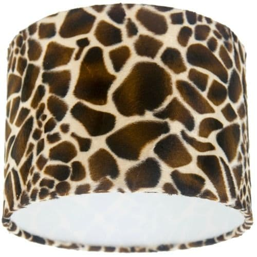 Giraffe Animal Print Drum Lampshade