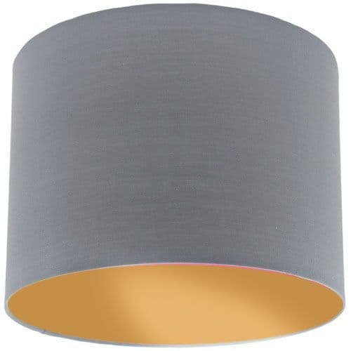 Grey Lamp Shade with Gold Lining