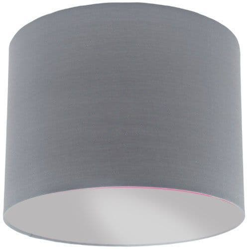 Grey Lamp Shade with Silver Lining