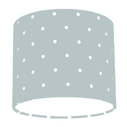 Grey Spotty Polka Dot Drum Lamp Shade