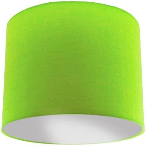Lime Green Lamp Shade with Silver Lining