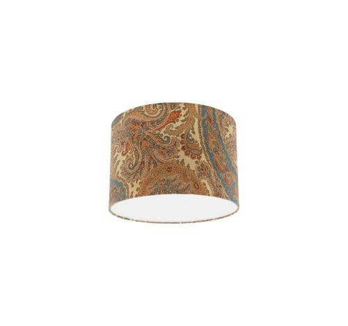 Osborne and Little Pasha Patara Cream / Sand / Light Petrol / Sage Drum Lamp Shade