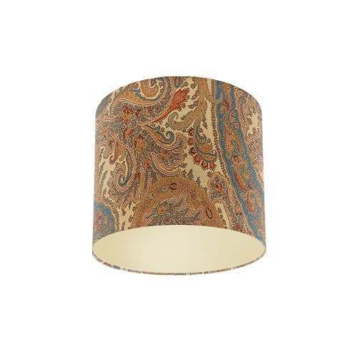 Osborne and Little Pasha Patara Cream / Sand / Light Petrol / Sage Drum Lamp Shade with Metallic Champagne Lining