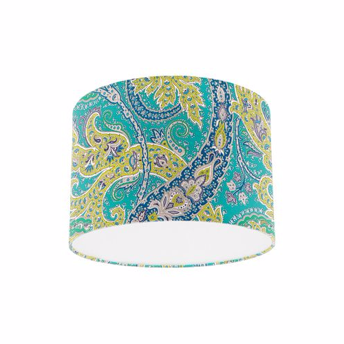 Osborne and Little Pasha Patara Jade / Peacock / Lime Drum Lamp Shade