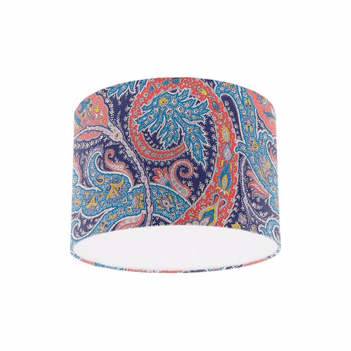 Osborne and Little Pasha Patara Navy / Cobalt / Coral Drum Lamp Shade