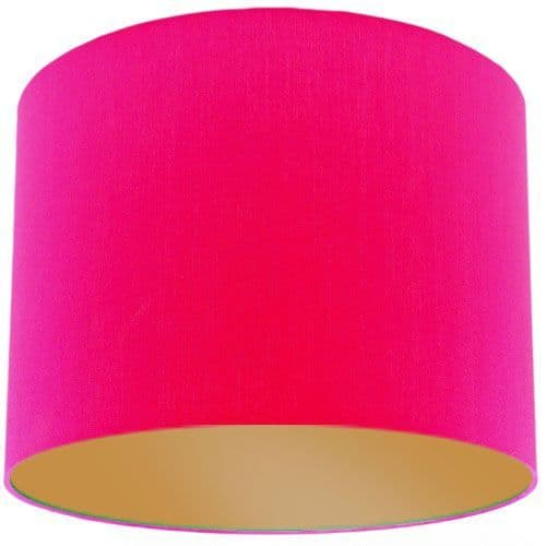 Pink Lamp Shade with Gold Lining