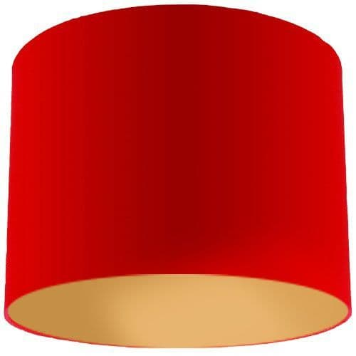 Red Lamp Shade with Gold Lining