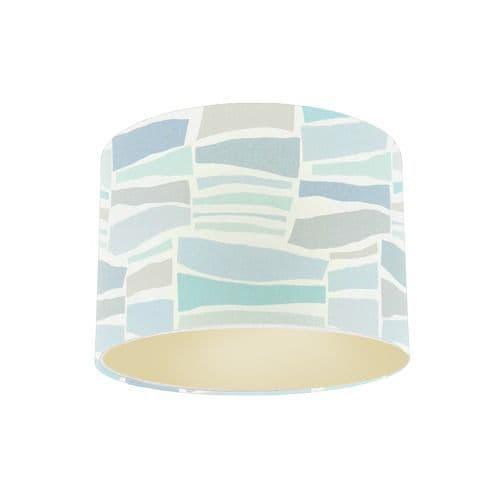 Sanderson Papavera Milla Mineral / Multi Fabric Drum Lamp Shade with Champagne Lining