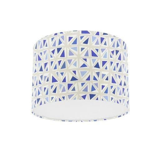 Sanderson Papavera Mosaica Marine / Multi Fabric Drum Lamp Shade
