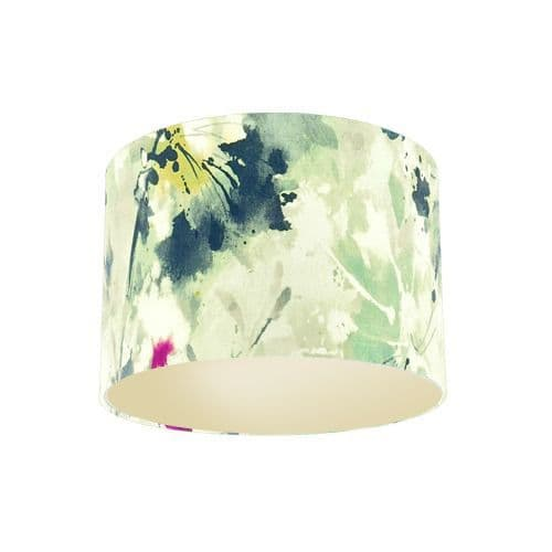 Sanderson Simi Opal Fabric Drum Lamp Shade with Champagne Lining