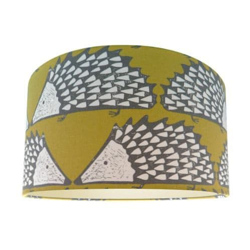 Scion Spike The Hedgehog Honey Fabric Drum Lamp Shade with Champagne Lining