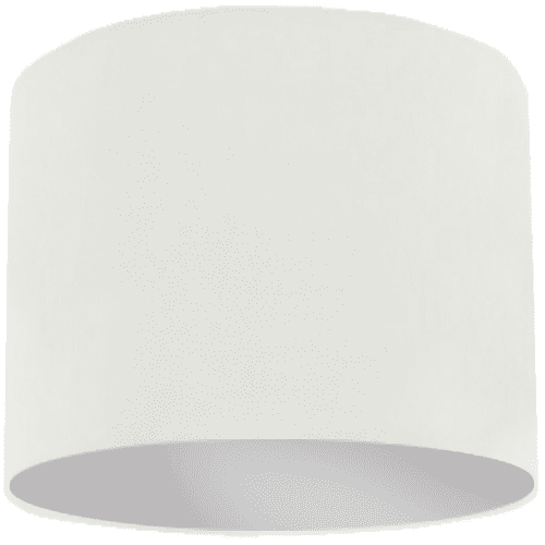 White Lamp Shade with Silver Lining