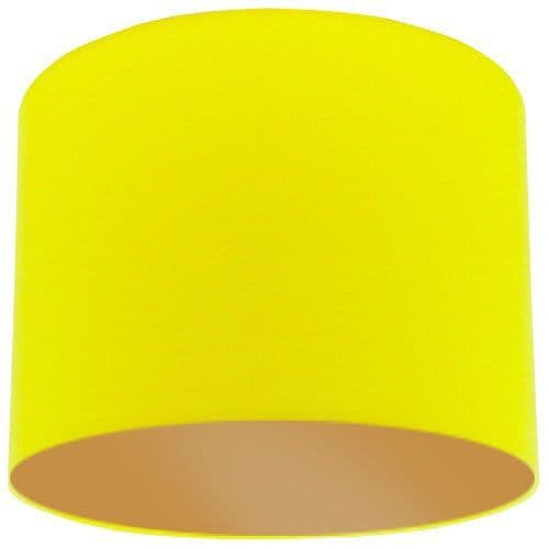 Yellow Lamp Shade with Gold Lining