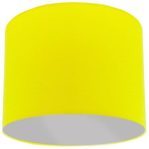 Yellow Lamp Shade with Silver Lining