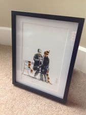 Braford City 'Let's Button You Up' - original artwork painted in acrylic in 14'' x 11''frame
