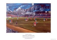 Bristol Rovers v Manchester United League Cup 1972 Limited Edition of 100 A3 Unframed print