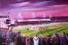 Broomfield Under Lights , Airdrieonians A3 poster  Print