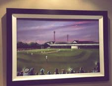 Cricket at Bradford Park Avenue  FRAMED oil painting - on canvas board 51 x 76cm