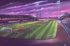 Dens  Park Dundee 1970's 20'' x 30'' approx poster print
