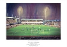 Derby County v Real Madrid 1975 European Cup  A3 print