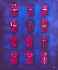 Dunfermline  - Pars Classic Kits  A3 poster print
