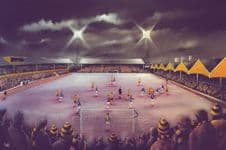From the South Bank, Molineux, Wolverhampton Wanderers  - 20'' x 30'' Box Canvas Print